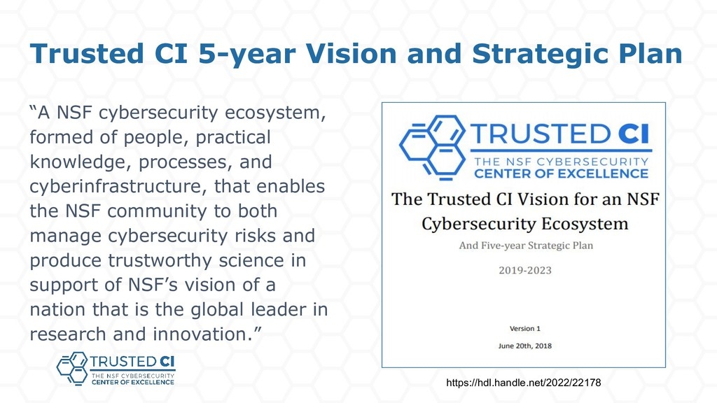 "Trusted CI 5-year Vision and Strategic Plan ""A ..."