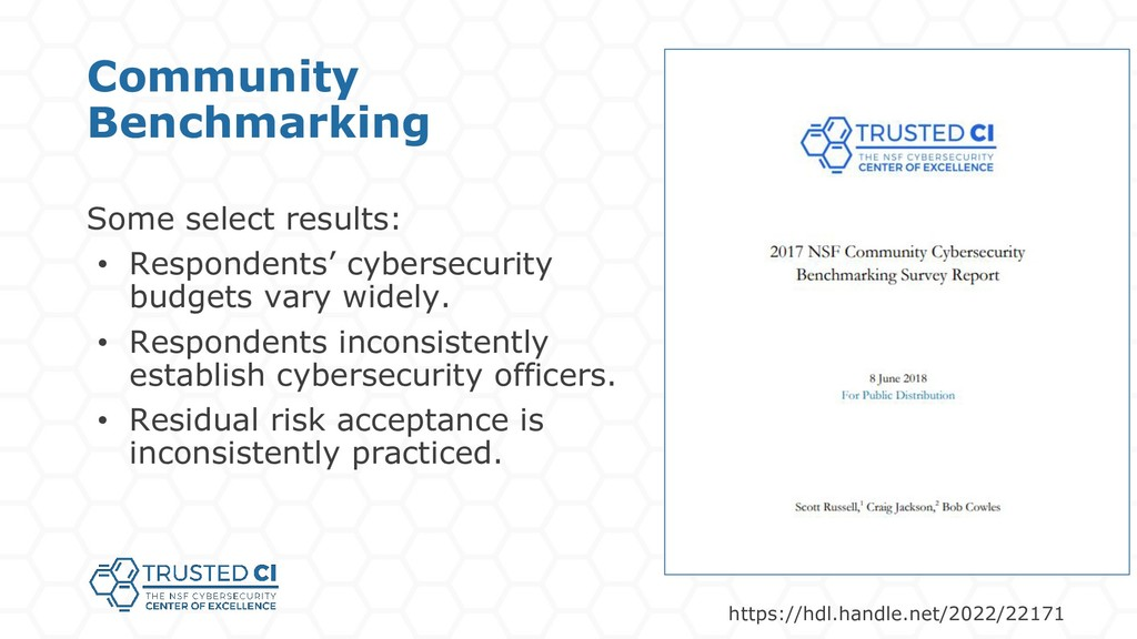 Some select results: • Respondents' cybersecuri...