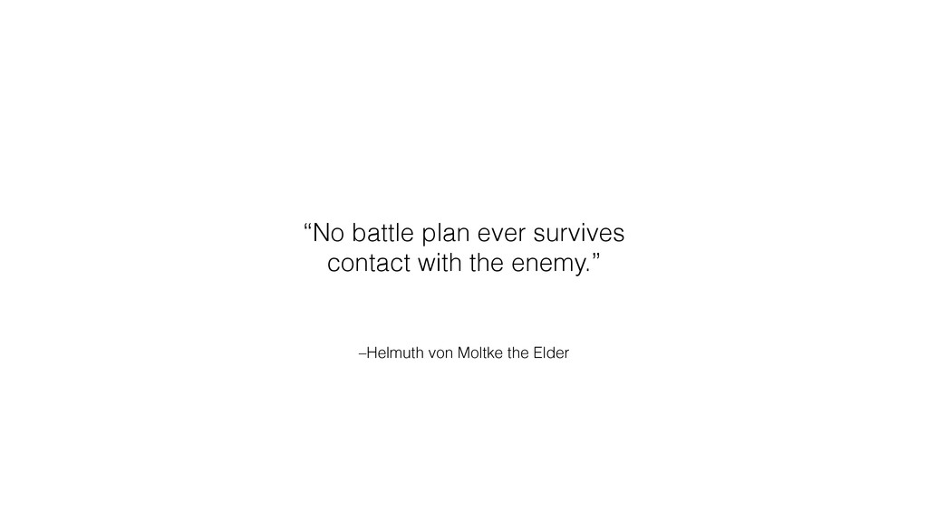 "–Helmuth von Moltke the Elder ""No battle plan e..."
