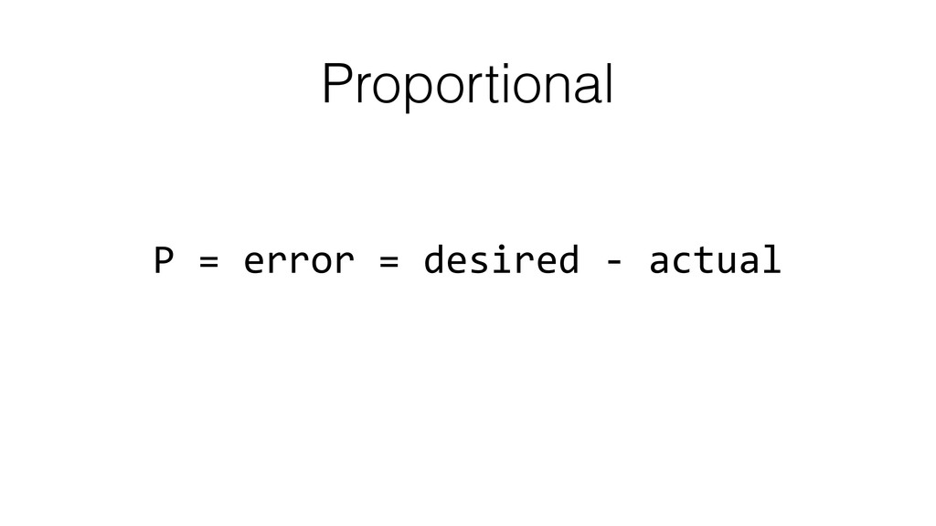 Proportional P	