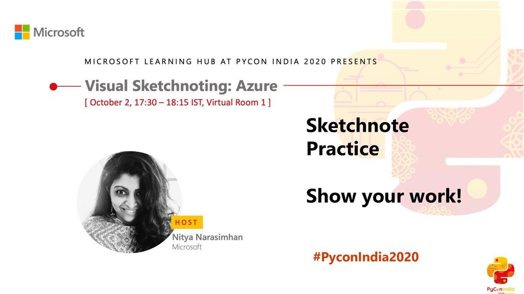 #PyconIndia2020 Sketchnote Practice Show your w...