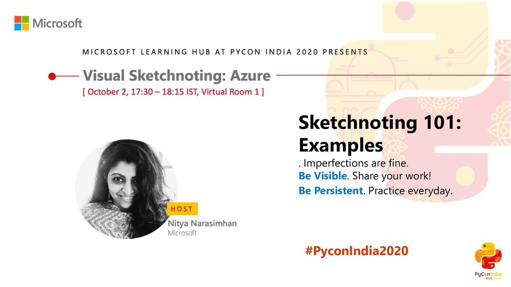 #PyconIndia2020 Sketchnoting 101: Examples . Im...