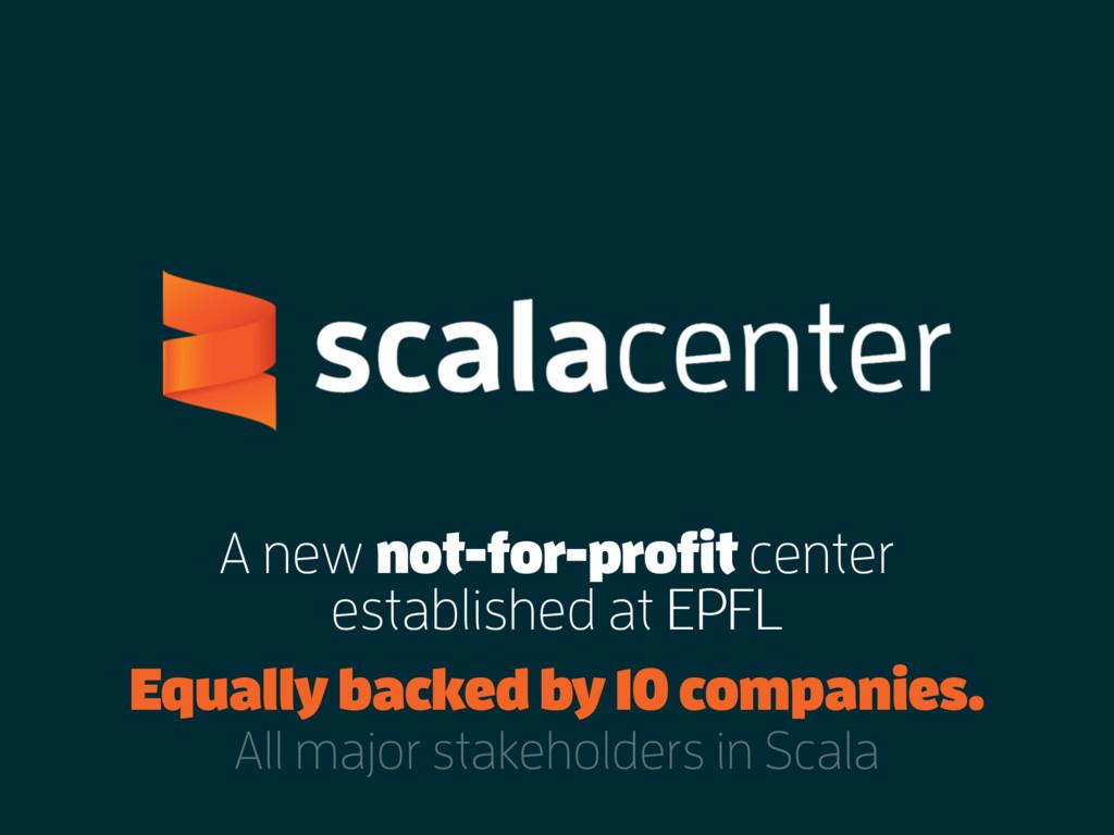 A new not-for-profit center established at EPFL...