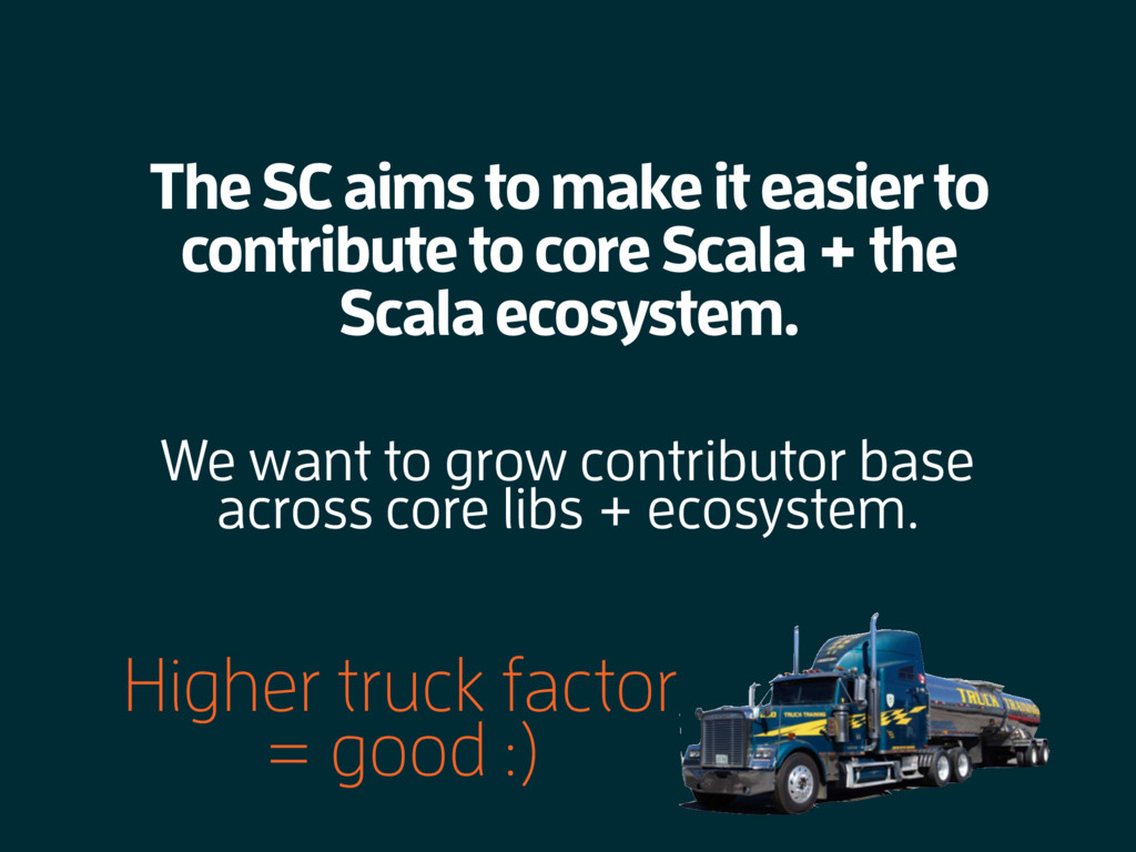 The SC aims to make it easier to contribute to ...
