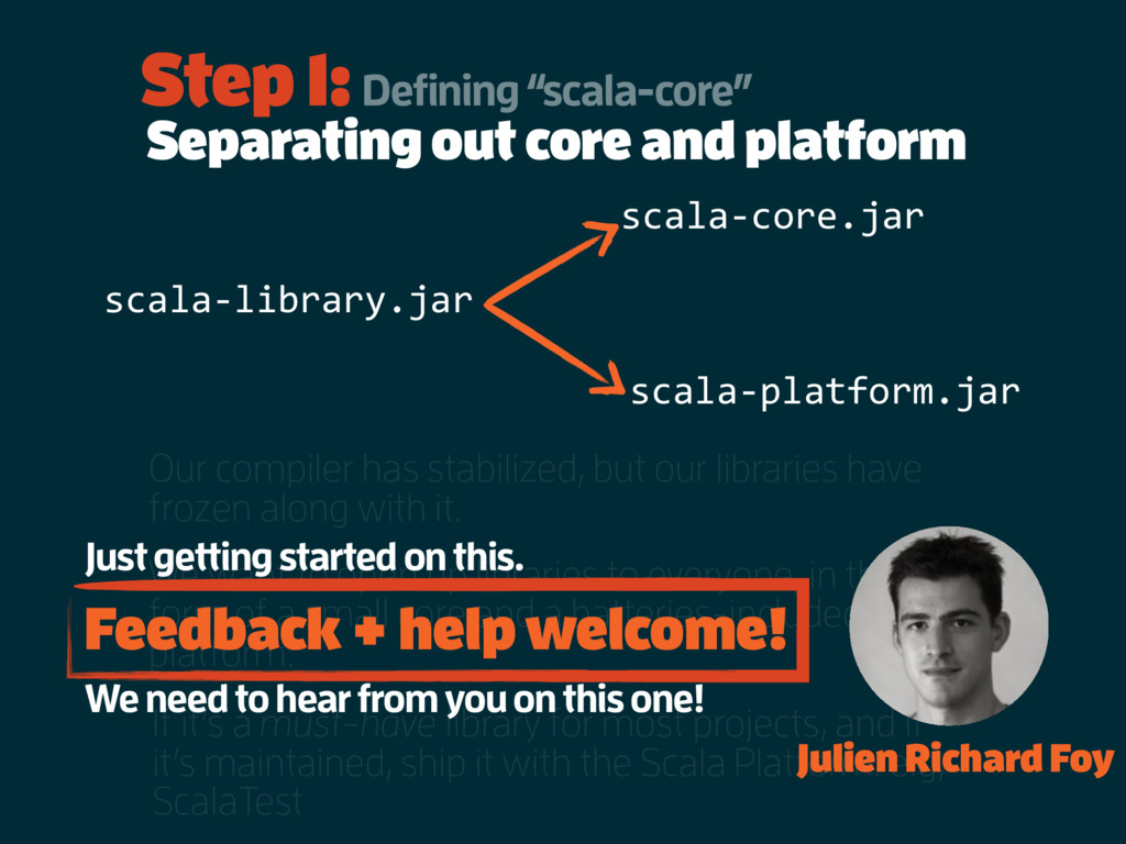 Separating out core and platform Our compiler h...