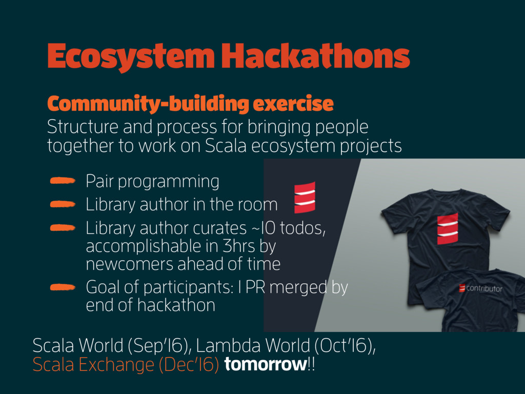 Ecosystem Hackathons Scala World (Sep'16), Lamb...