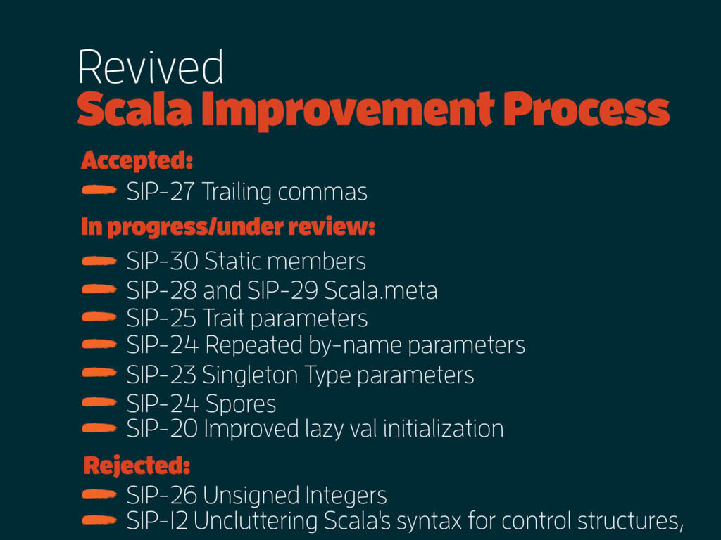 Revived Scala Improvement Process Accepted: Rej...