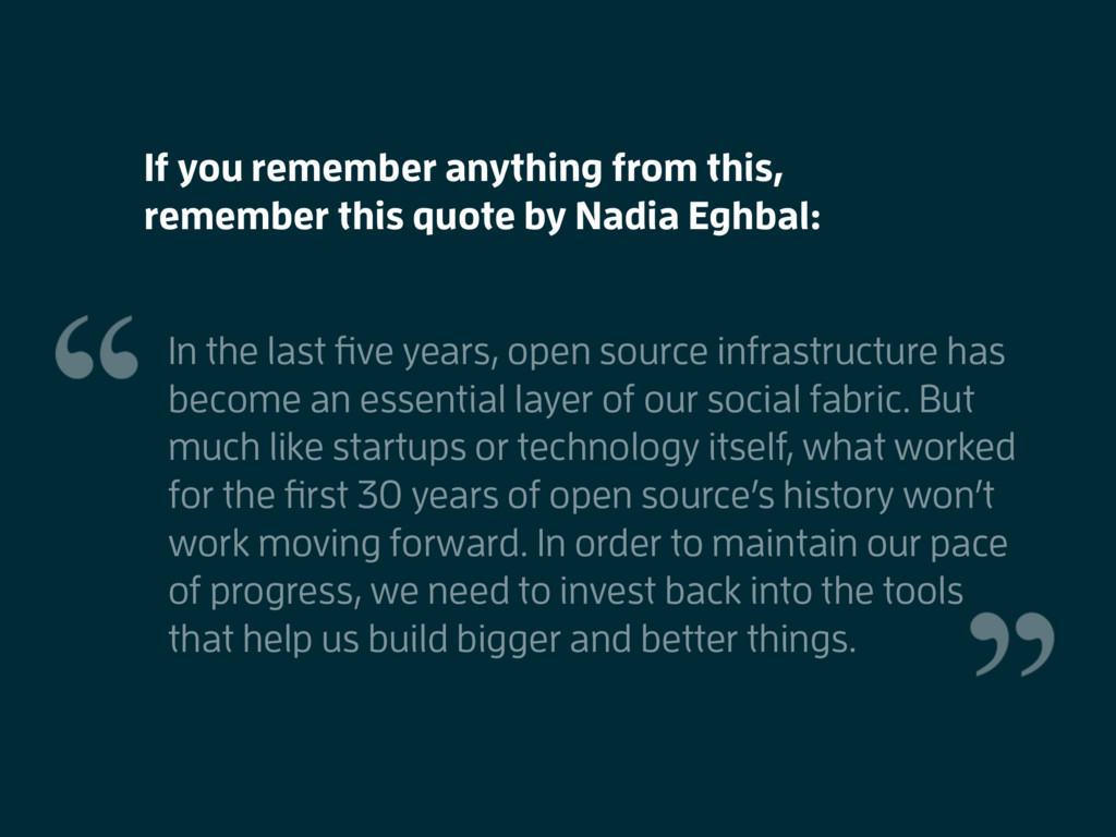 In the last five years, open source infrastructu...