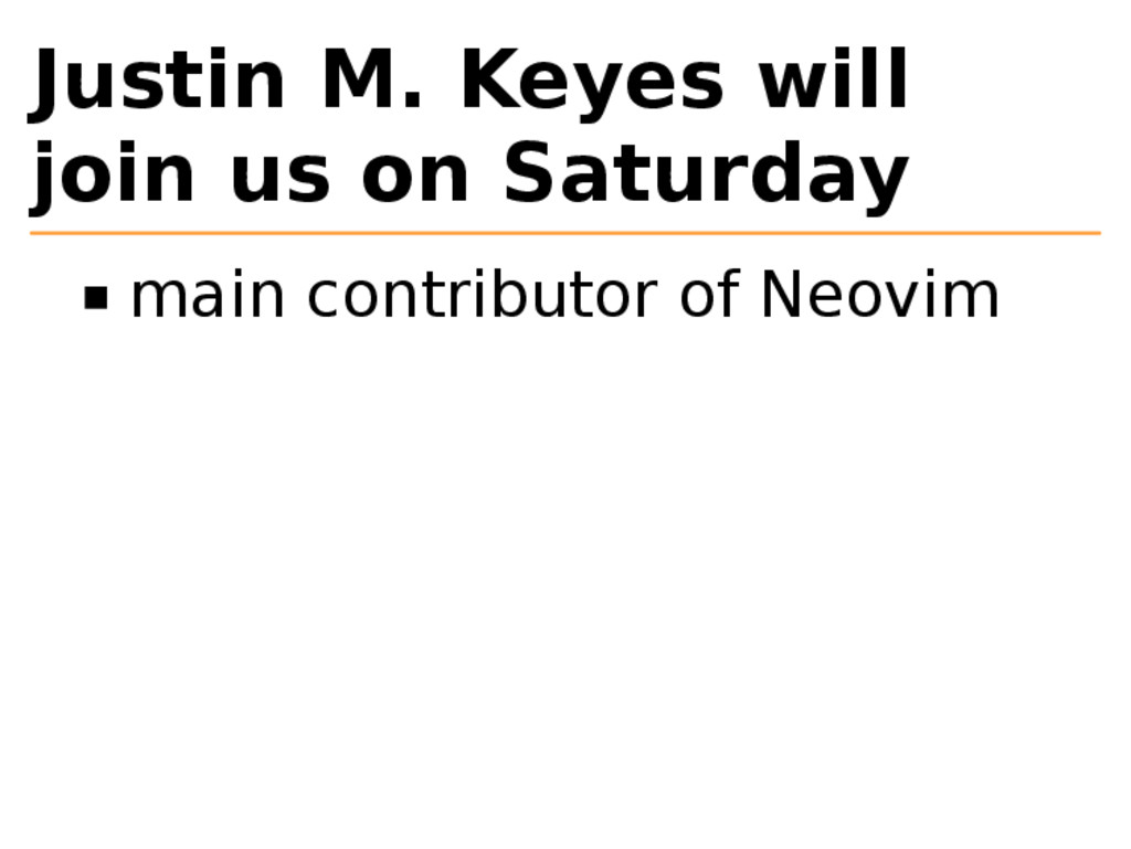 Justin M. Keyes will join us on Saturday main c...
