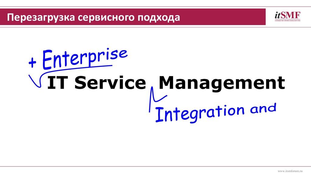 Перезагрузка сервисного подхода IT Service Mana...
