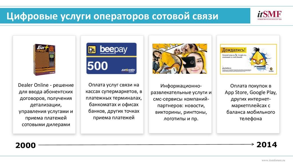 Цифровые услуги операторов сотовой связи www.it...