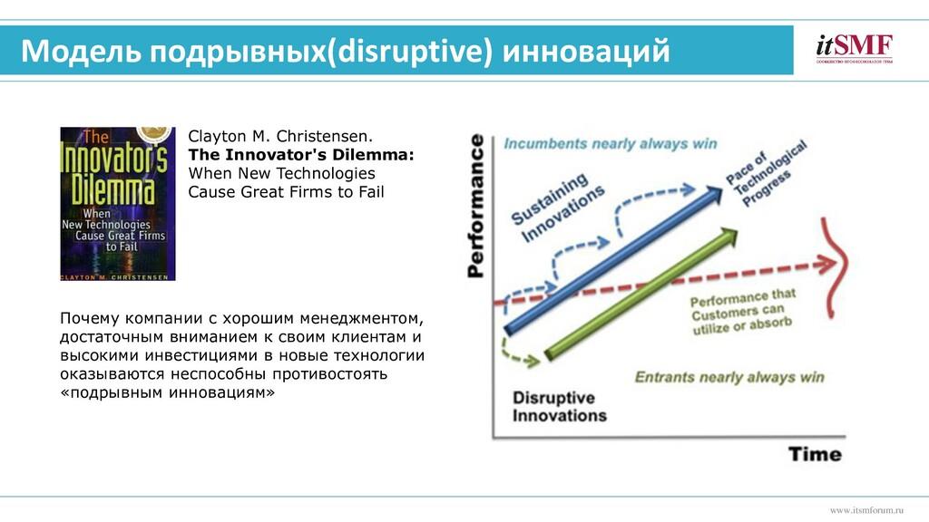 www.itsmforum.ru Модель подрывных(disruptive) и...