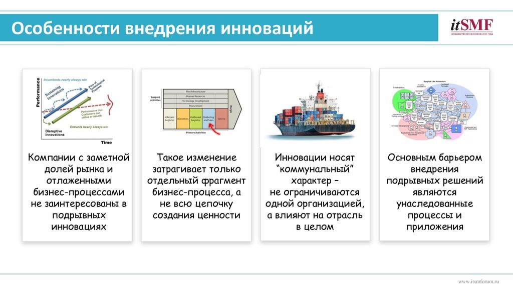Особенности внедрения инноваций www.itsmforum.r...