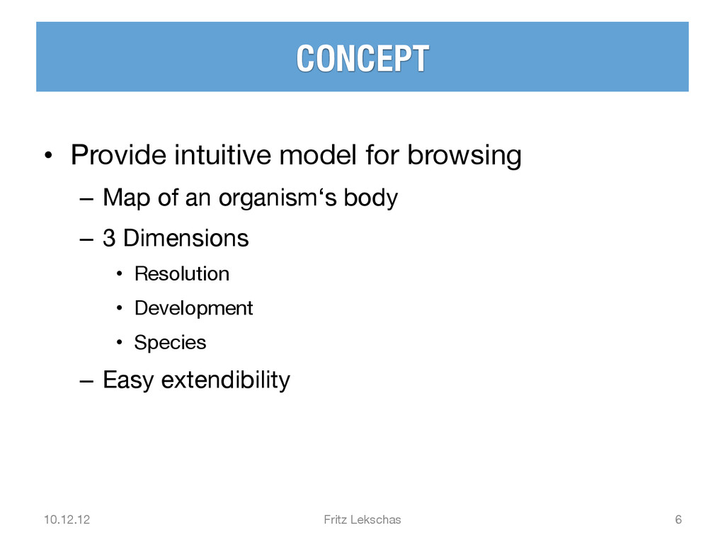 CONCEPT • Provide intuitive model for browsin...