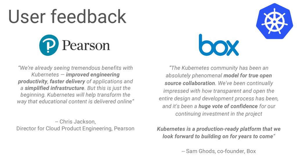 "Google Cloud Platform User feedback ""The Kubern..."