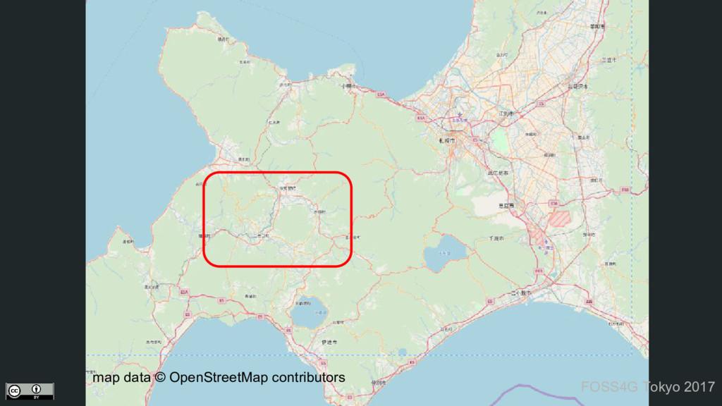 map data © OpenStreetMap contributors FOSS4G To...