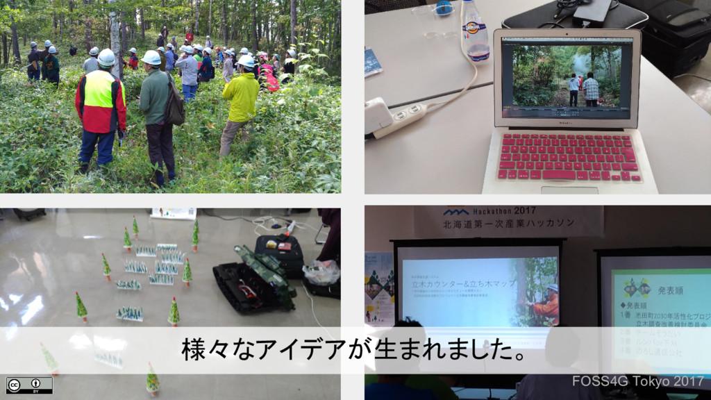 FOSS4G Tokyo 2017 様々なアイデアが生まれました。
