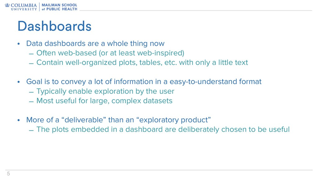 5 • Data dashboards are a whole thing now – Oft...