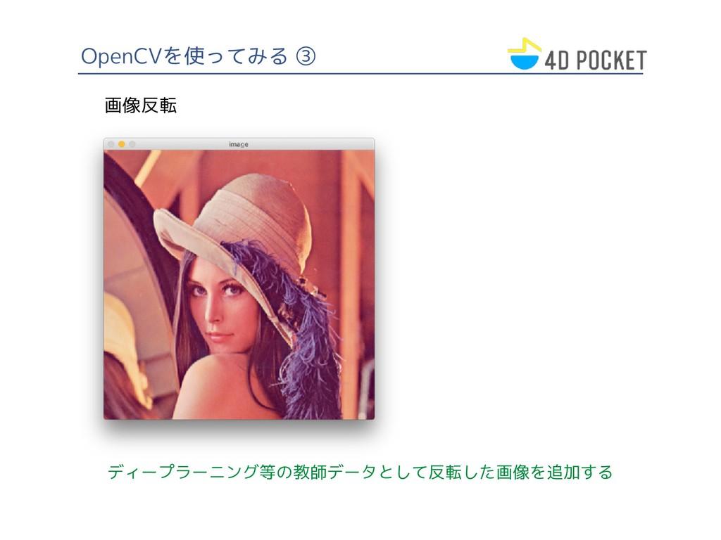 OpenCVを使ってみる ③ ディープラーニング等の教師データとして反転した画像を追加する 画...