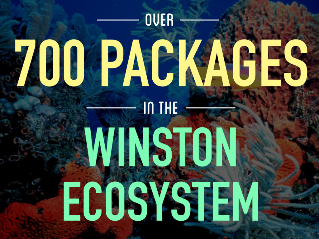 WINSTON ECOSYSTEM 700 PACKAGES OVER IN THE