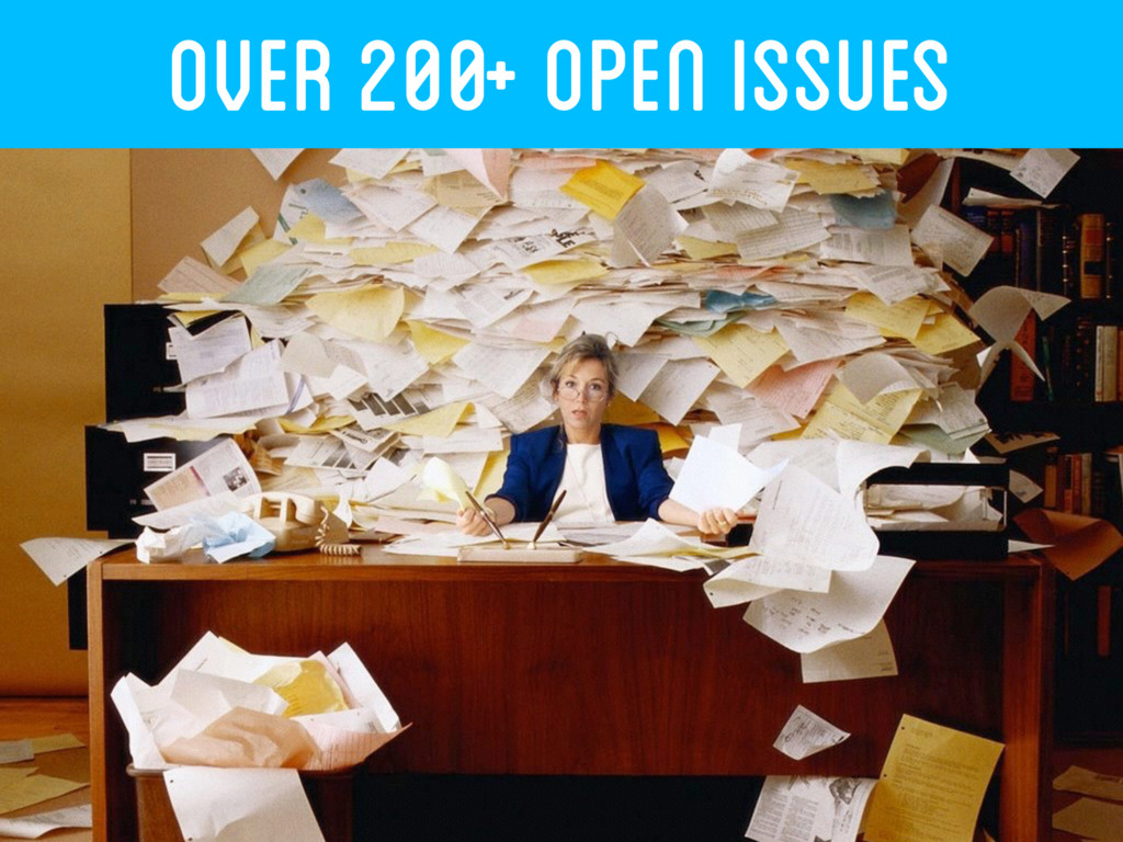 OVER 200+ Open ISSUES