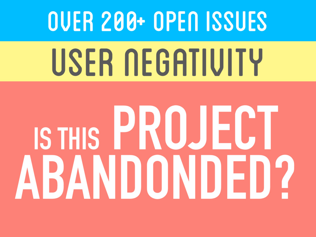 OVER 200+ Open ISSUES USER NEGATIVITY ...