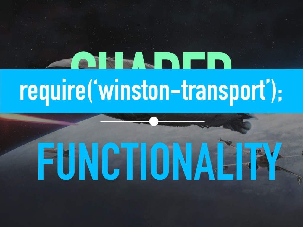 SHARED FUNCTIONALITY  require('winston-trans...