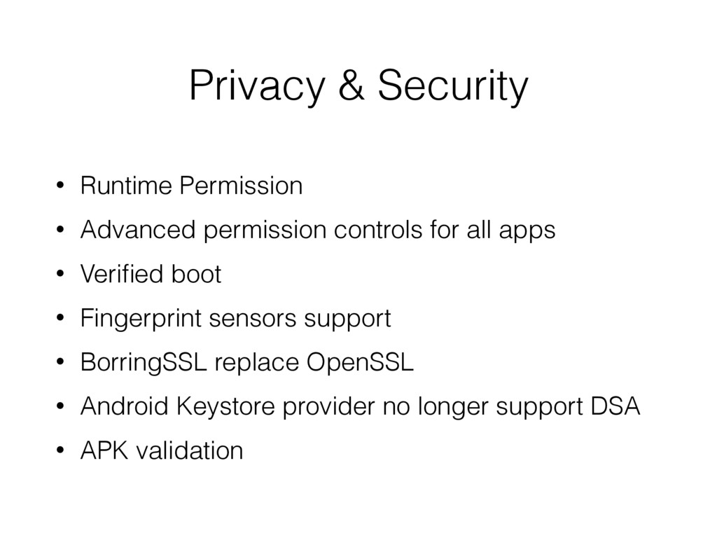 Privacy & Security • Runtime Permission • Advan...
