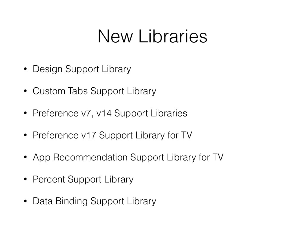 New Libraries • Design Support Library • Custom...