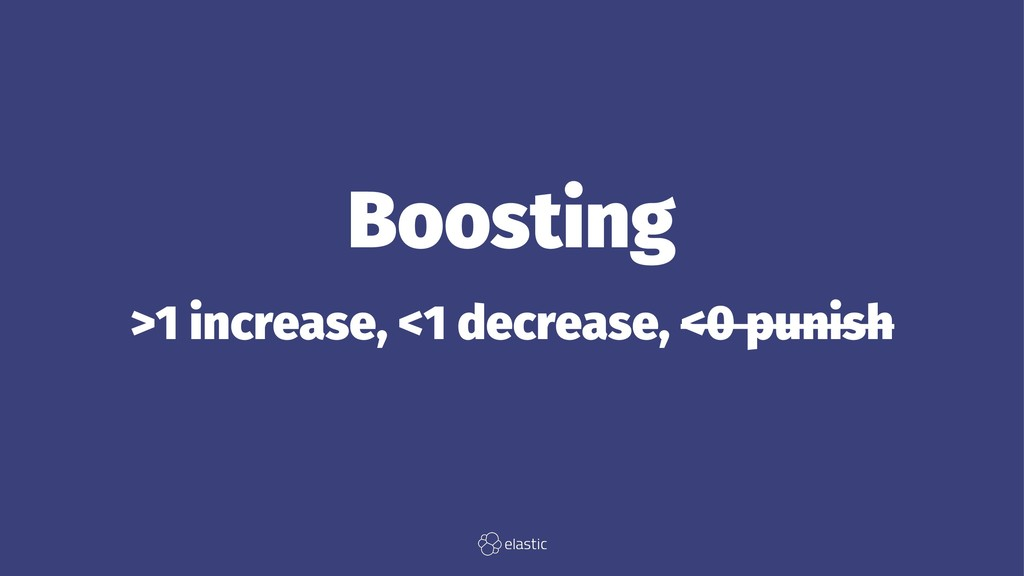 Boosting >1 increase, <1 decrease, <0 punish