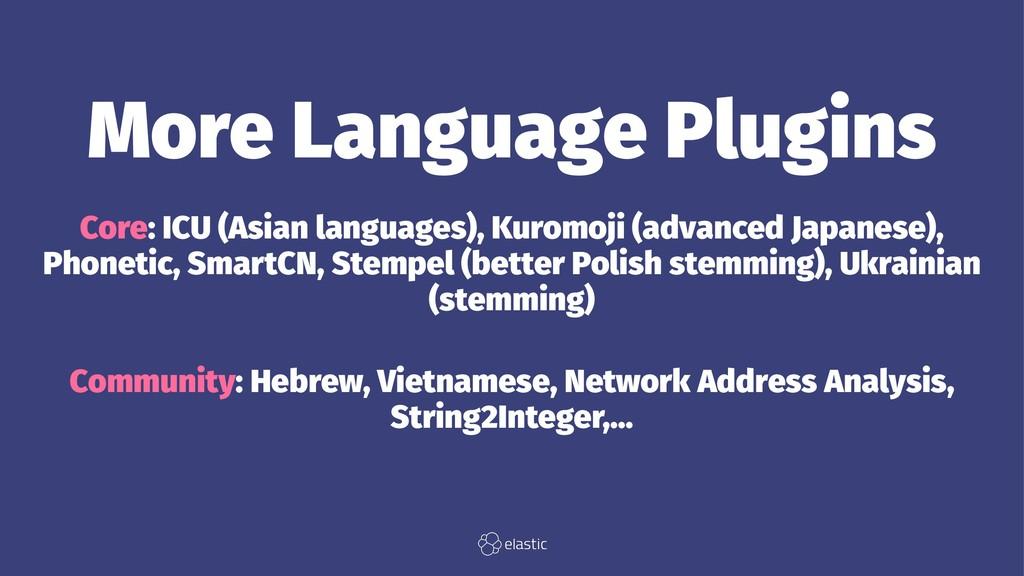 More Language Plugins Core: ICU (Asian language...