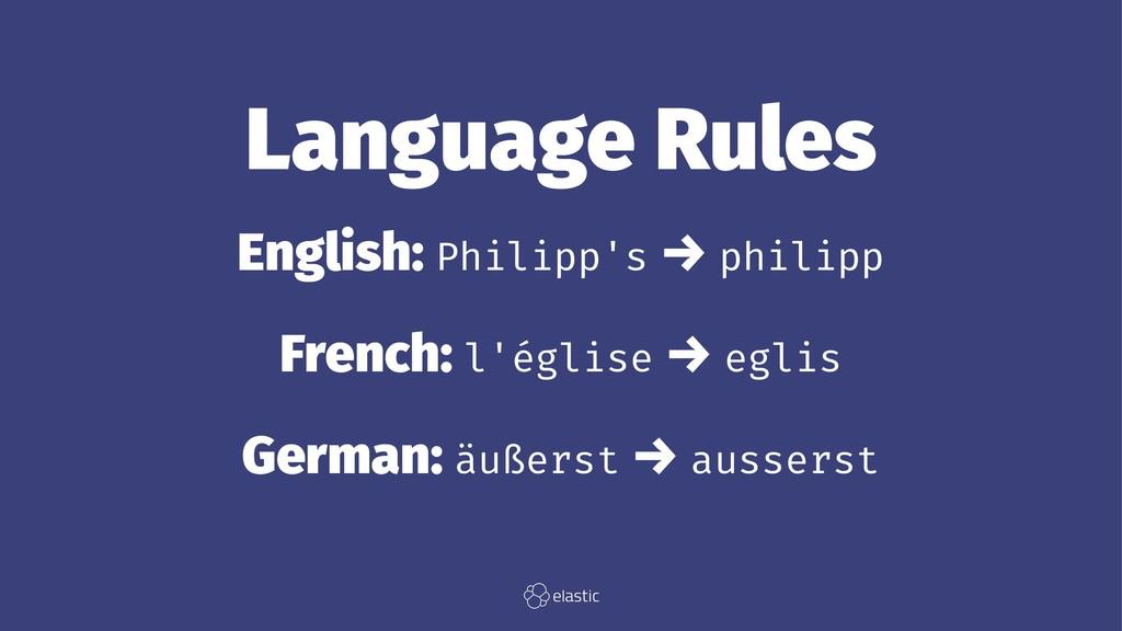 Language Rules English: Philipp's → philipp Fre...