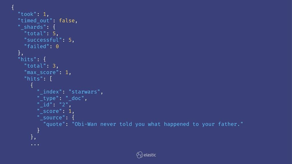 """{ """"took"""": 1, """"timed_out"""": false, """"_shards"""": { """"..."""