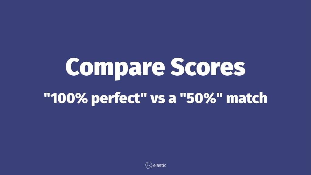 """Compare Scores """"100% perfect"""" vs a """"50%"""" match"""