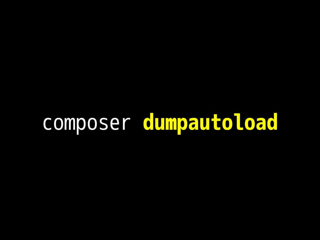 composer dumpautoload
