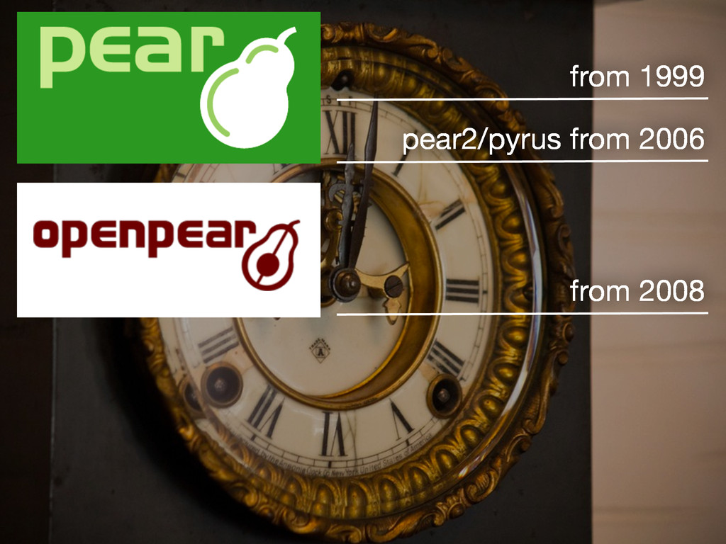 from 1999 pear2/pyrus from 2006 from 2008