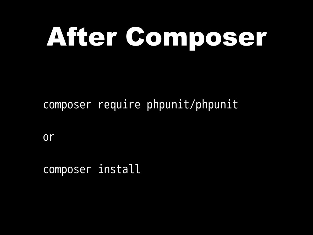 After Composer composer require phpunit/phpunit...
