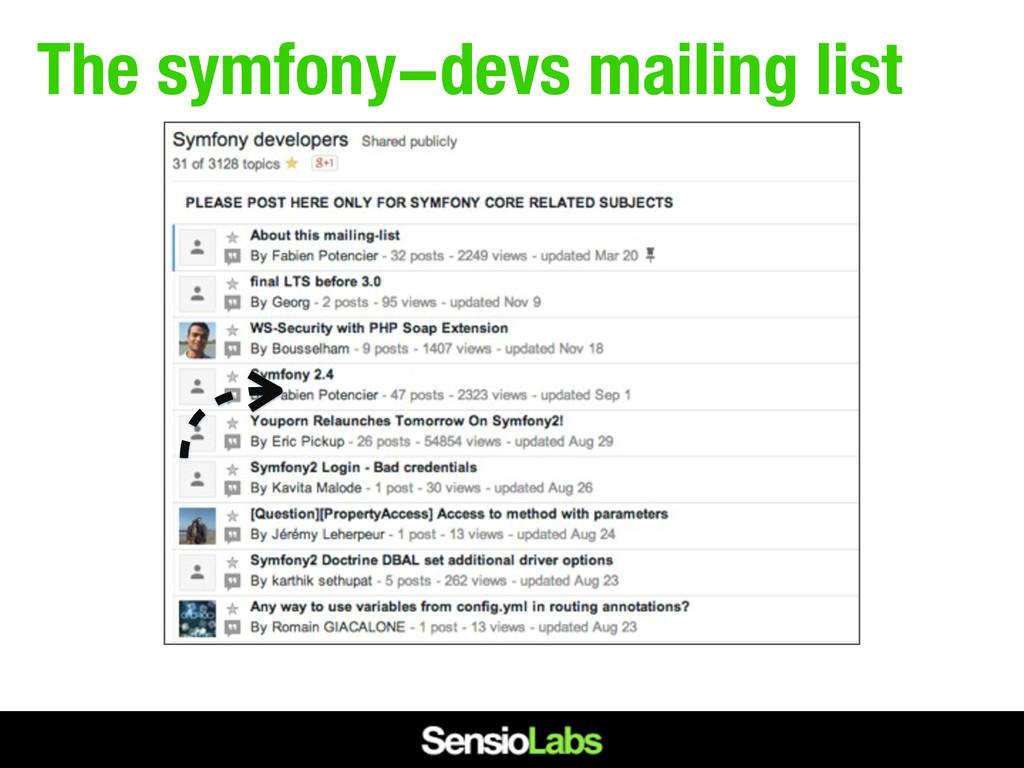 The symfony-devs mailing list