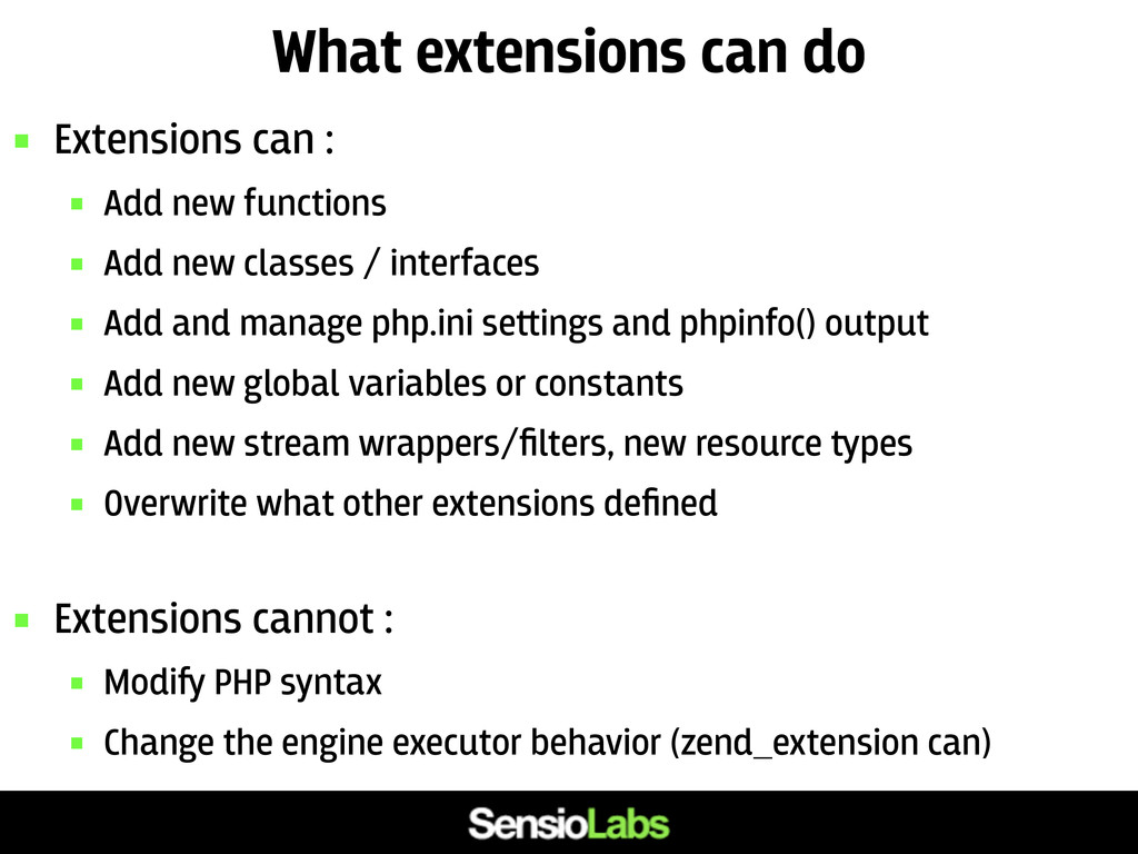 What extensions can do  Extensions can :  Add...