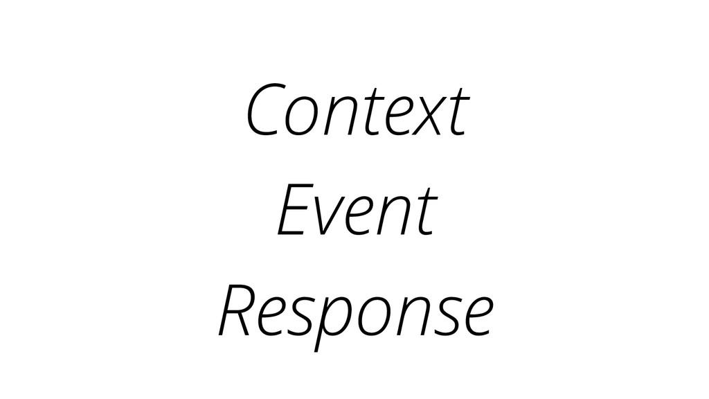 Context Event Response