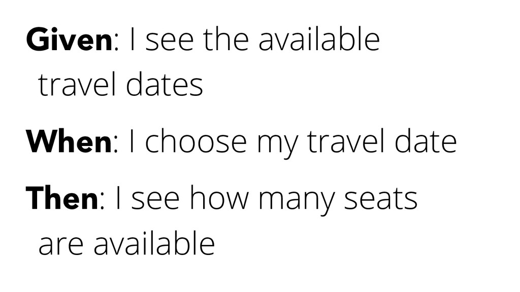 Given: I see the available travel dates When: I...