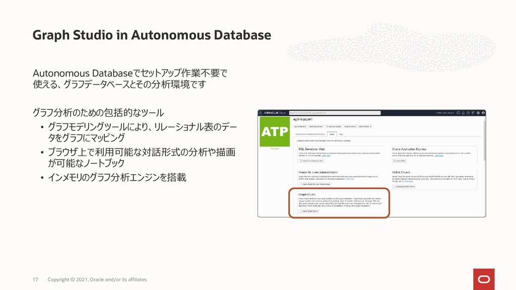 Autonomous Databaseでセットアップ作業不要で 使える、グラフデータベースとそ...
