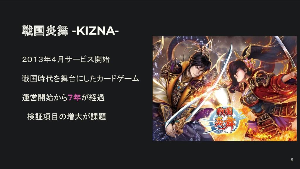戦国炎舞 -KIZNA- 2013年4月サービス開始 戦国時代を舞台にしたカードゲーム 運営開...