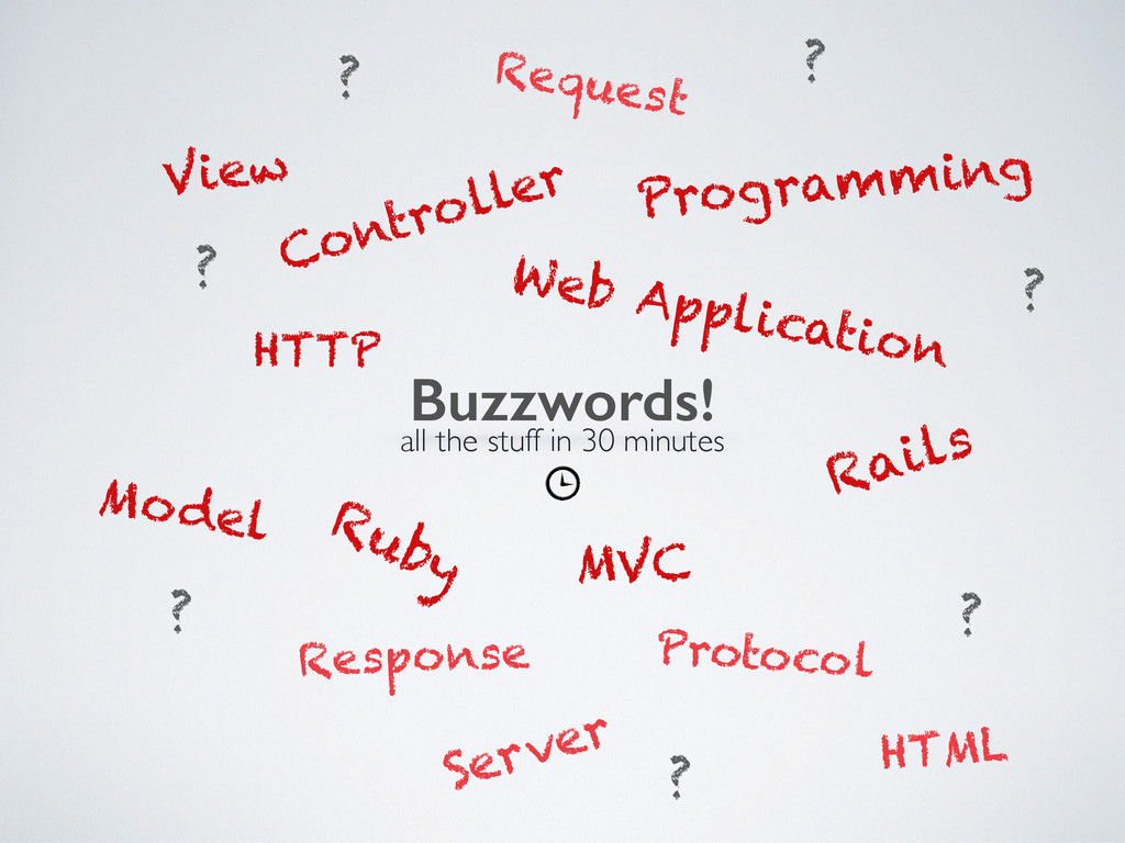 Buzzwords! Web Application Ruby Rails Programmi...