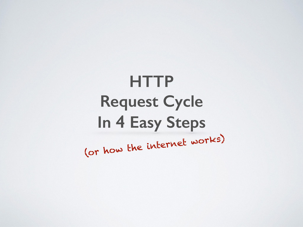 HTTP Request Cycle In 4 Easy Steps (or how the ...