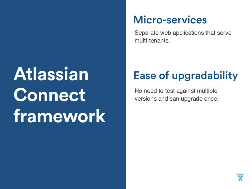 Atlassian Connect framework Ease of upgradabili...