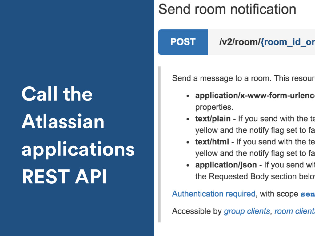 Call the Atlassian applications REST API