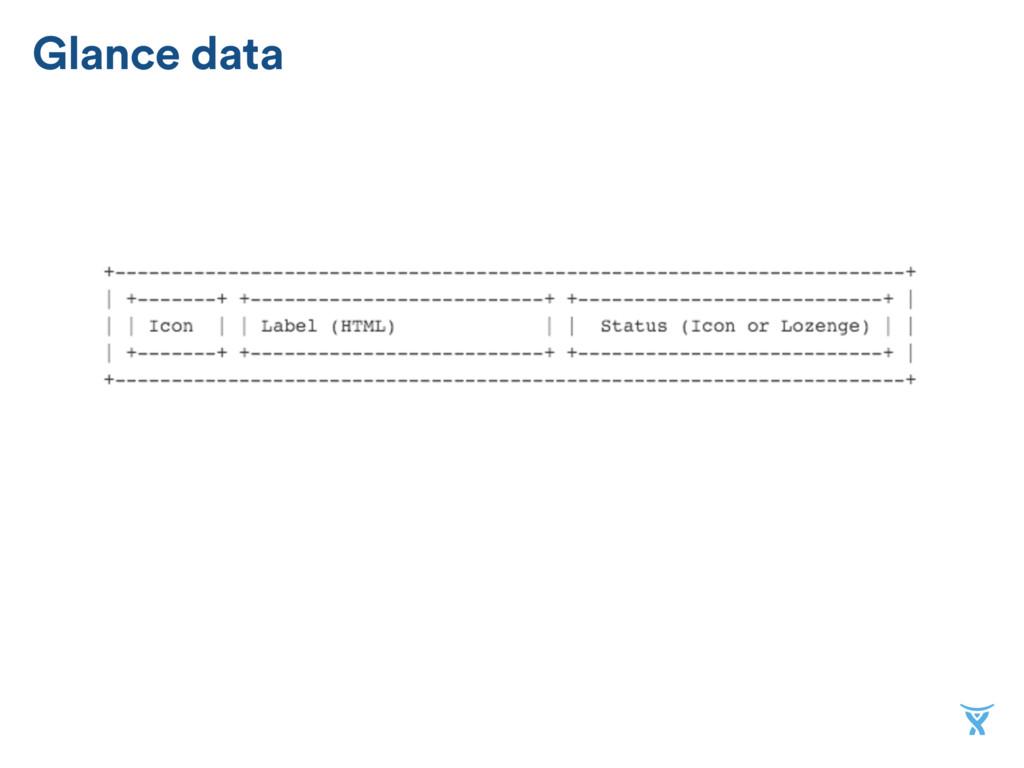 Glance data