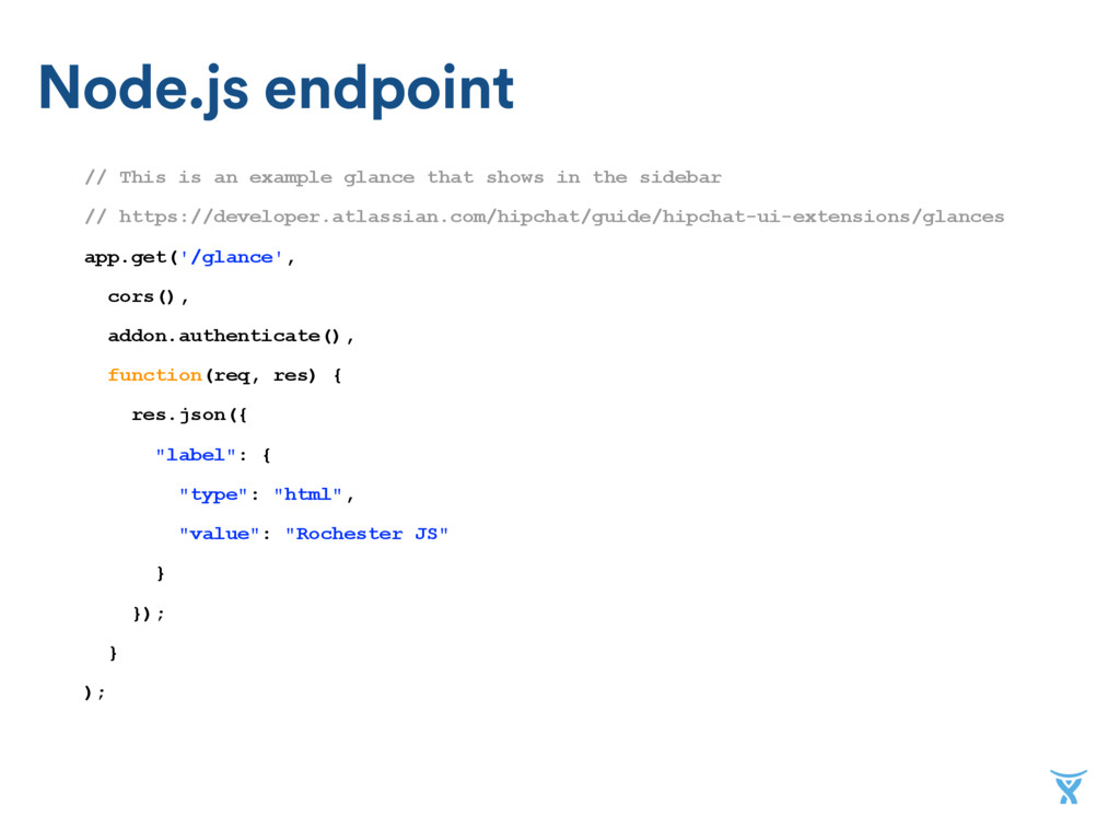 Node.js endpoint // This is an example glance t...