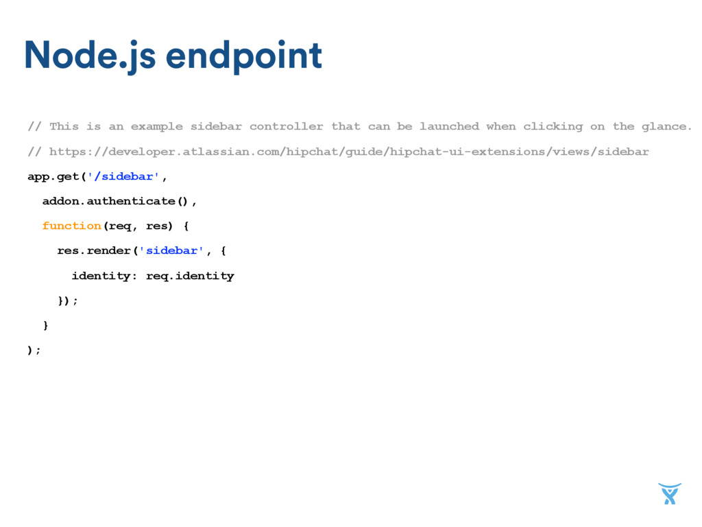 Node.js endpoint // This is an example sidebar ...